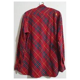 Tommy Hilfiger-chemises-Rouge,Multicolore