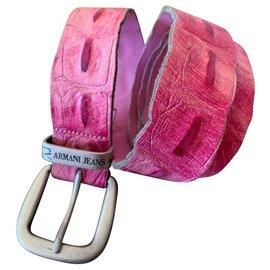 Armani Jeans-Belts-Pink