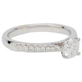 inconnue-Bague solitaire en or blanc, diamant 0,51 ct.-Autre