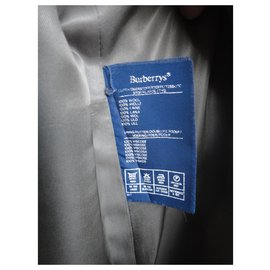 Burberry-Burberry vintage coat in Shetland tweed 38-Grey