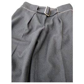 Chanel-wool trousers CHANEL-Black