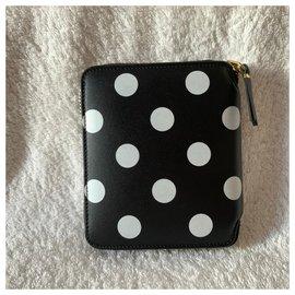 Comme Des Garcons-Polka dots zip wallet-Black