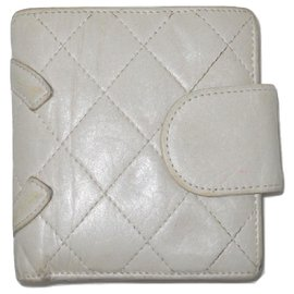 Chanel-CHANEL vintage Cambon wallet-Eggshell