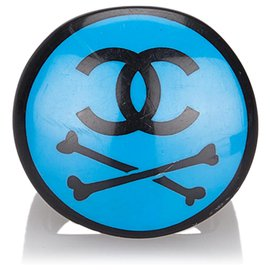 Chanel-Chanel Blue CC Ring-Black,Blue