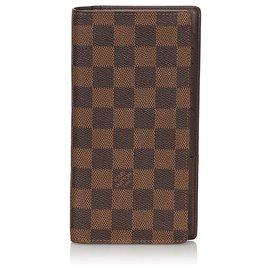 Louis Vuitton-Louis Vuitton Brown Damier Ebene Brazza Wallet-Brown