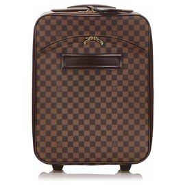 Louis Vuitton-Louis Vuitton Brown Damier Ebene Pegase 45-Marron