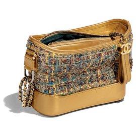 Chanel-Chanel Gabrielle mala a tiracolo hobo new-Azul,Dourado,Verde