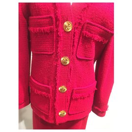 Chanel-Skirt suit-Red