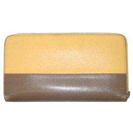 Céline-CELINE zipped wallet-Beige,Taupe
