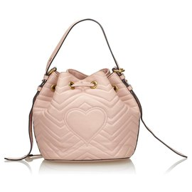 Gucci-GUCCI BUCKET BAG NOUVEAU SAC À MAIN doublé SANGLE-Rose