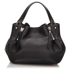 Burberry-Burberry Black Leather Madestone-Black