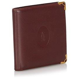 Cartier-Cartier Red Leather Must De Cartier Wallet-Red,Dark red