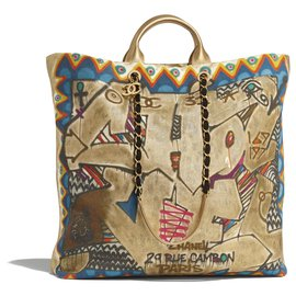 Chanel-chanel maxi sac shopping nouvelle collection 19/20-Doré