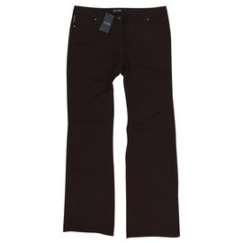 Armani Jeans-ARMANI JEANS Straight Leg Jeans T33 New with tags-Chocolate