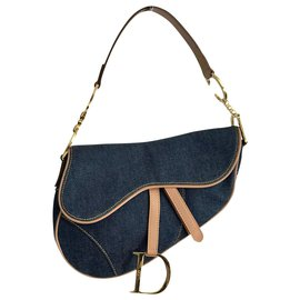 Dior-Saddle bag Dior Denim-Blue