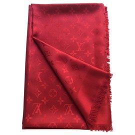 Louis Vuitton-Monogram stola Vuitton-Rouge