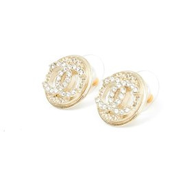 Chanel-CC RHINESTONE CIRCLE-Golden