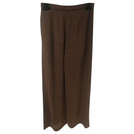 Chanel-tailleur pantalon-Marron