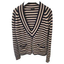 Chanel-Knitwear-Beige,Navy blue