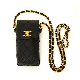 Chanel-TIMELESS CLASSIC BLACK HOLDER-Black,Golden