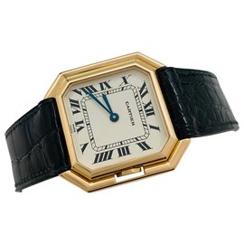 "Cartier-Cartier watch ""Belt"" yellow gold on leather.-Other"