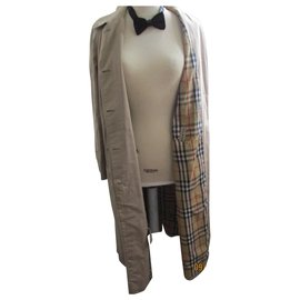 Burberry-BURBERRYS, straight trench, taille 42.-Beige