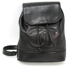 Chanel-Chanel Black Vintage Lambskin Timeless Sling Bag-Black