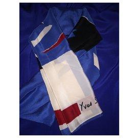 Yves Saint Laurent-Scarf-Blue