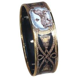 Hermès-Bracelets-Marron,Noir,Doré,Bronze