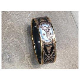 Hermès-Bracelets-Brown,Black,Golden,Bronze