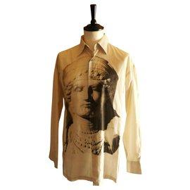 Kenzo-chemise KENZO taille L parfait état motif: Aphrodite-Blanc cassé