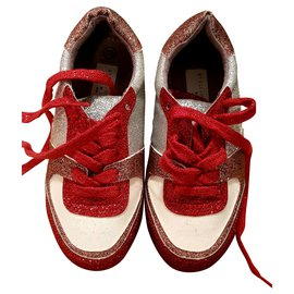 Stella Mc Cartney-sneakers-Blanc,Rouge