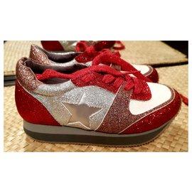 Stella Mc Cartney-sneakers-Blanc,Rouge
