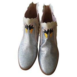 Stella Mc Cartney-boots-Argenté