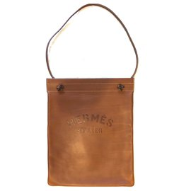 Hermès-Hermès bag Aline Large model leather barenia-Brown