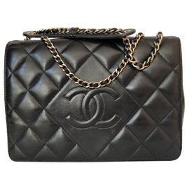 Chanel-Black crossbody bag-Black