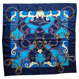 Hermès-Scarf-Blue