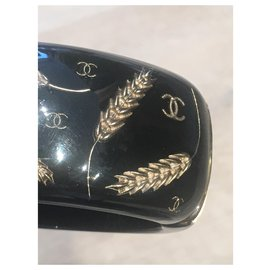 Chanel-Ear of corn-Black,Golden
