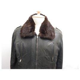 Hermès-Hermès - Bomber jacket with fur lining (removable)-Dark brown