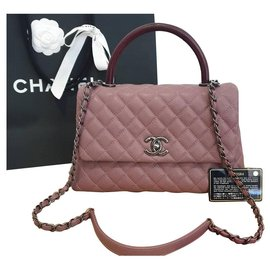 Chanel-Coco top handle-Pink