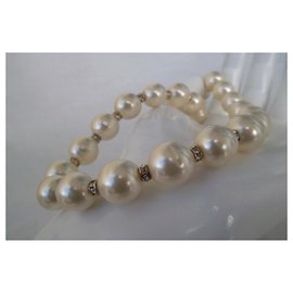 Chanel-BAROQUE PEARLS NECKLACE-White