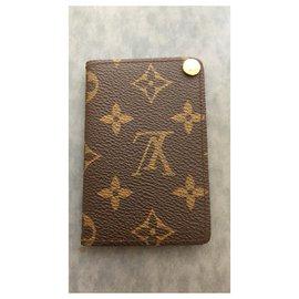 Louis Vuitton-card holder-Brown