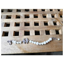 Chanel-Sublime bracelet Chanel pearls and rhinestones-Silvery,White