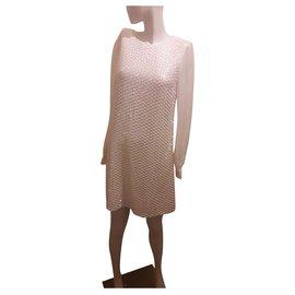 Michael Kors-Robe à sequins-Blanc