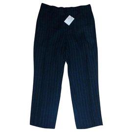 Isabel Marant Etoile-Pantalon rayé-Bleu Marine