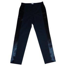 Lanvin-Pantalon Smocking-Noir