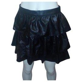 Stella Mc Cartney-tiered lined skirt-Black