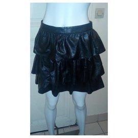 Stella Mc Cartney-jupe à volants-Noir