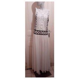 Tory Burch-long dress-White