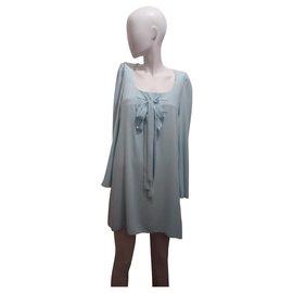 Moschino-Robe Bleu ciel-Bleu clair